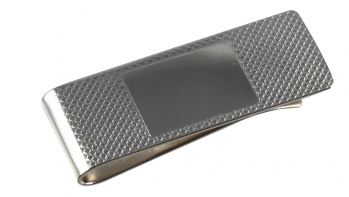 Graduation gift for him silver plated money clip with embossed design