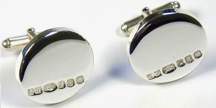 Britannia Silver Cufflinks Edinburgh great as a graduation gift
