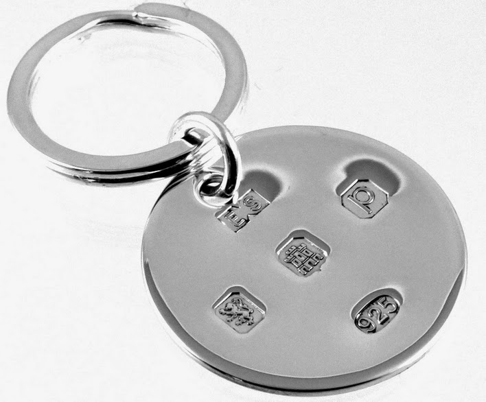 Solid Silver Keyring