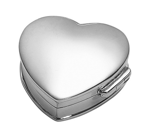 perfect graduation gift heart shaped silver mirror box