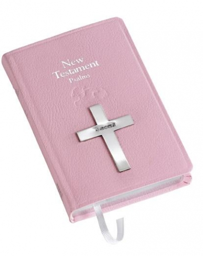silver pink bible