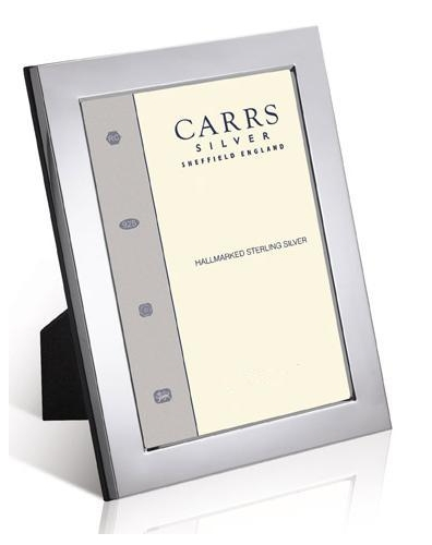 large border solid silver picture frame 8 inches by 10 inches