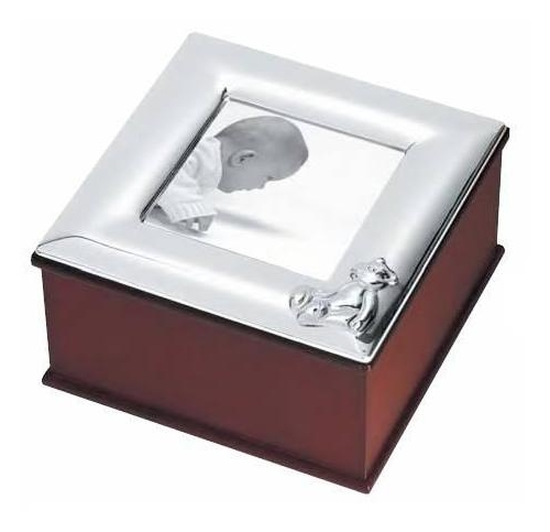Silver Gifts for Christening a mahogany box with solid silver frame