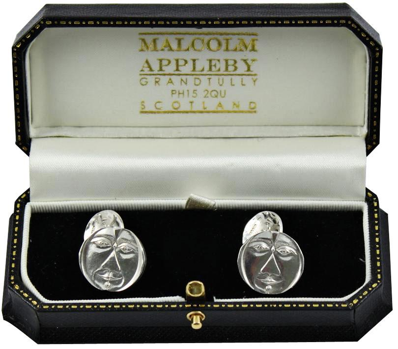 3 faces cufflinks by Malcolm Appleby