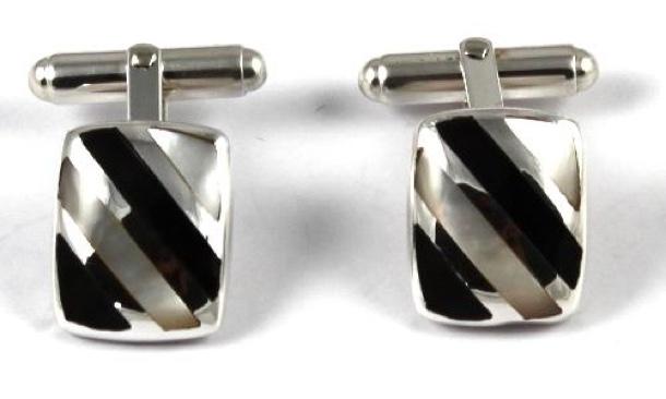 cufflinks sterling silver with enamel