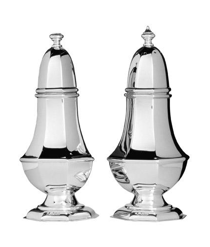 Table Setting Cutlery solid silver condiment set
