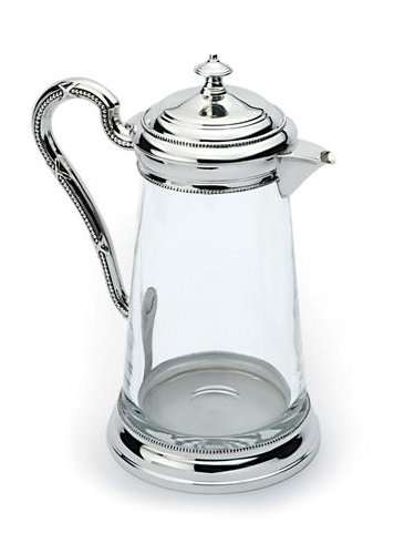 silver claret jug hallmarked made from lead crystal perfect for the dinner table