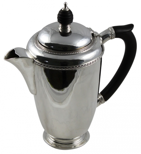 solid silver coffee pot by HG Murphy
