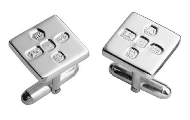 hallmarked silver cufflinks