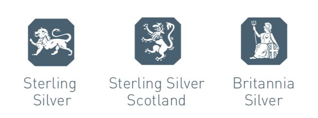 silver hallmarks Britannia silver sterling silver Scotland