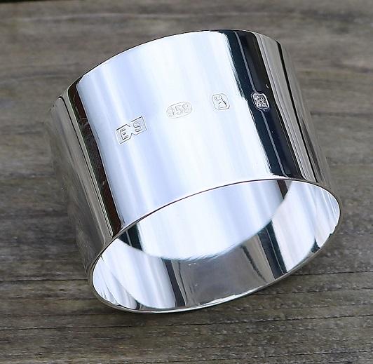 Britannia silver Napkin ring
