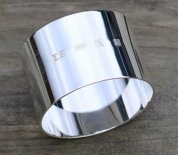 Round silver hallmarked napkin ring