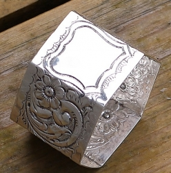 antique silver napkin ring. This one isn't a Britannia silver napkin ring
