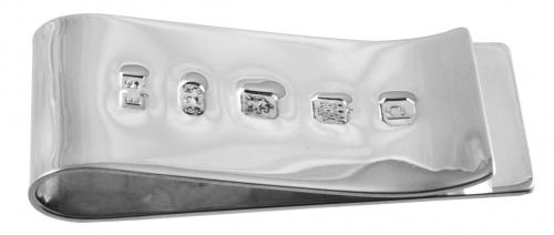 Britannia silver money clip