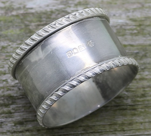 degreasing a silver napkin ring