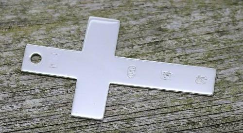 Britannia silver cross bookmark
