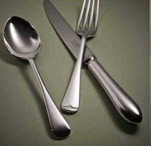 old English silver cutlery