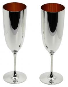 Solid Silver Champagne Flutes