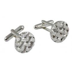 Silver Plated Celtic Cufflinks Round