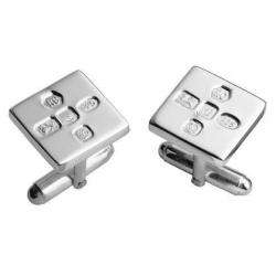 Silver Cufflinks | Feature Hallmarks CUFFH