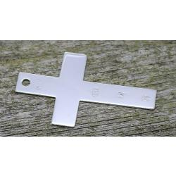 Silver Cross Bookmark, featuring Large Edinburgh Hallmarks