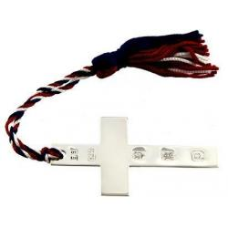 Silver Cross Bookmark with The Lords Prayer, featuring Large Edinburgh Hallmarks