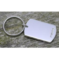 Solid Silver Key Ring ESCDTK