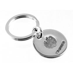 Solid Silver Hallmarked Round Shape Keyring, with The Lord's Prayer engraved