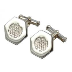 Solid Silver Hexagonal Cufflinks ESHXLP