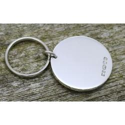 Silver Hallmarked  Key Ring ESRKsh