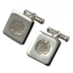 Solid Silver Square Cufflinks ESSQLP