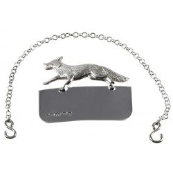 Silver Decanter Label Fox