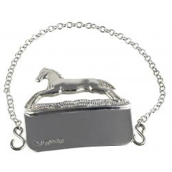 Silver Decanter Label Horse