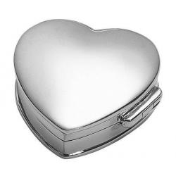Solid Silver Heart Shaped Box