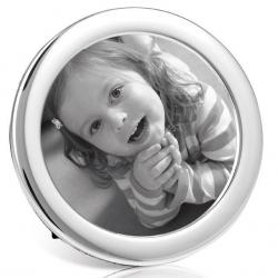 Silver Round Photo Frame PC4