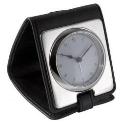 Solid Silver Travel Alarm Clock TG014